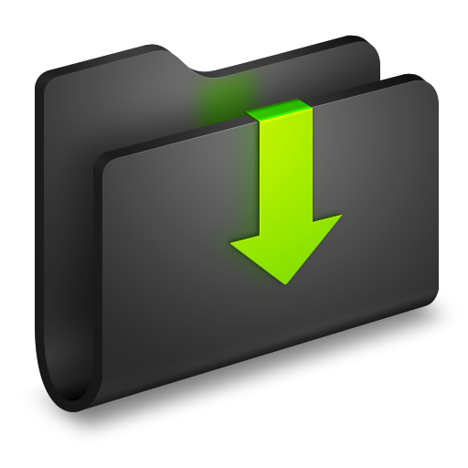 Downloads Black Folder icon